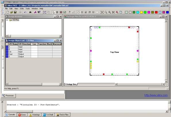 PACE (Pin-out Area Constraints Editor)