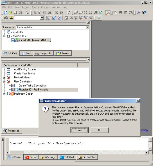 Generación del fichero de restricciones UCF
