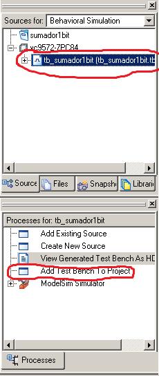 Generar fichero para poder simular en Modelsim